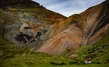 snæfellsness painted mountains